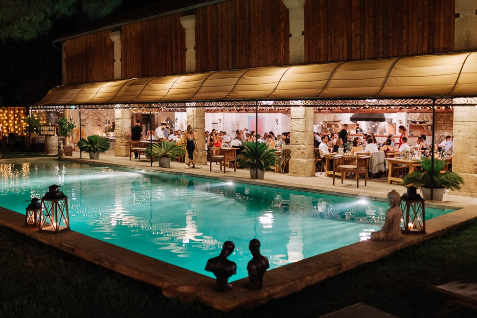 mariage piscine mas provence